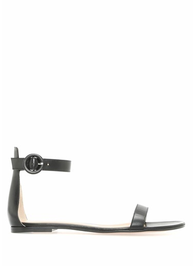 Gianvito Rossi %100 Deri Sandalet Siyah